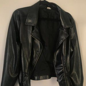 Wet Seal Faux Leather Jacket with buckes size M